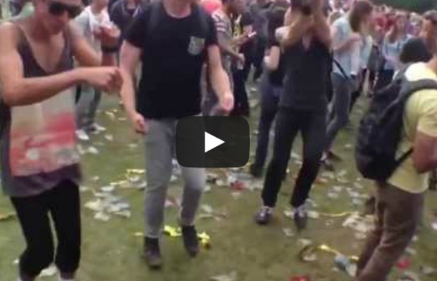 Ravers Dance to Benny Hill