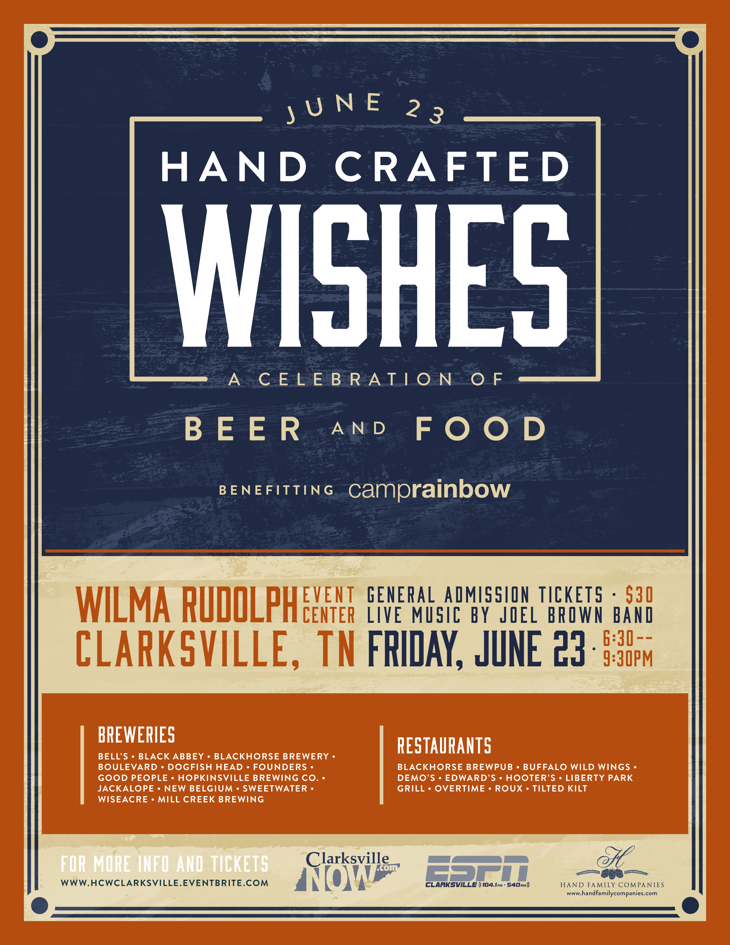 Hand crafted wishes celebration of beer and food rewind 94 3 - Buffalo grill ticket restaurant ...